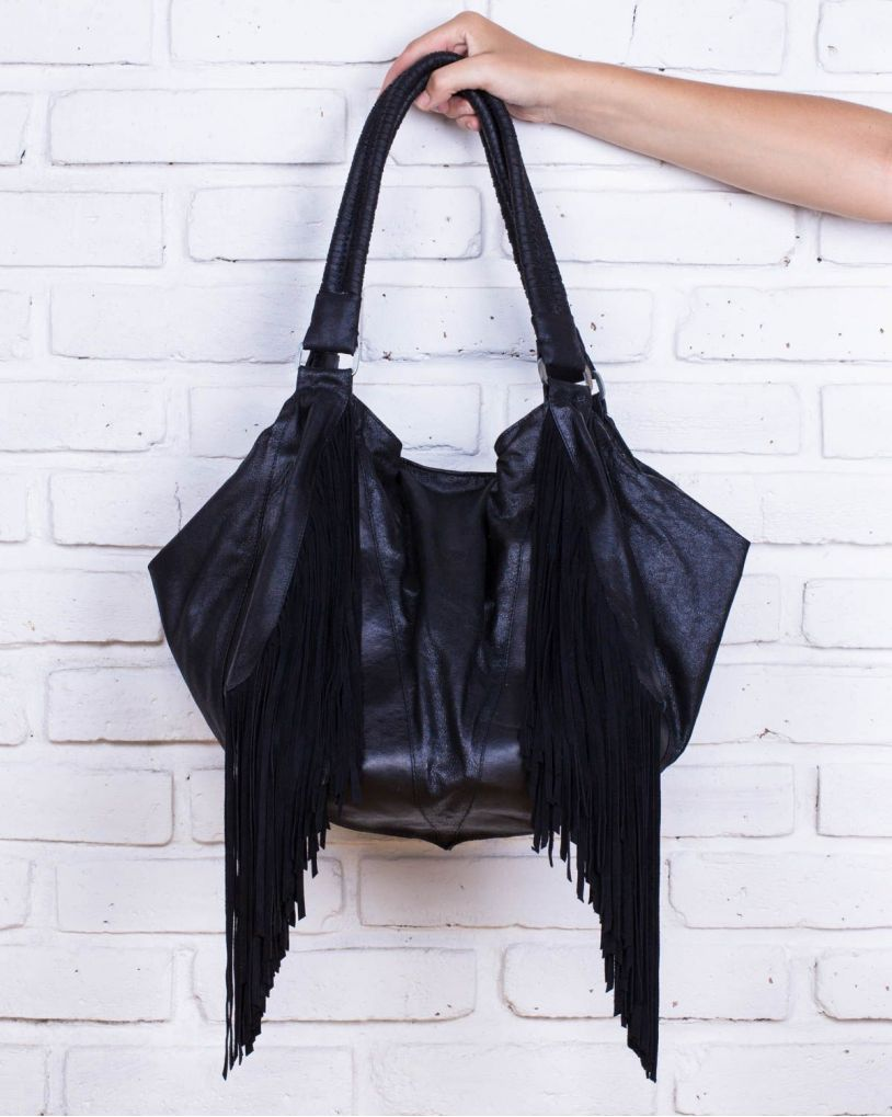 CALOU SMALL BAG FRINGE BRAID