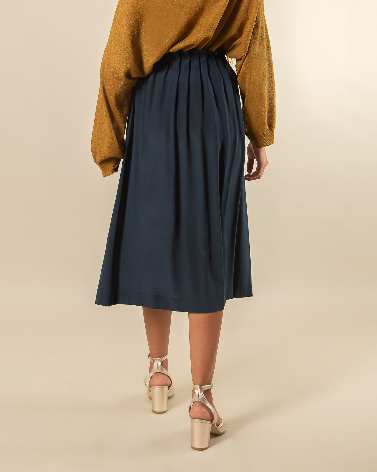 LOUISETTE SILK LONG SKIRT